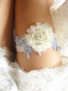 bridal garter wedding garter chiffon rosette garter by annabrides
