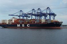 MSC VITA - Container vessel of Mediterranean Shipping Company last year in Brazil
