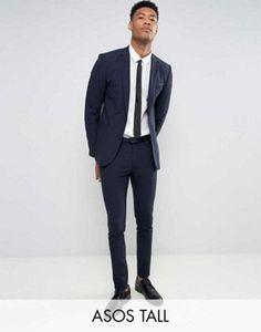 ASOS TALL Super Skinny Suit In Navy
