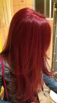 Hair Color Streaks, Hair Dye Colors, Red Hair Color, Red Colored Hair, Hair Color Ideas, Red Pink Hair, Red Orange Hair, Bright Red Hair, Red Hair Inspo