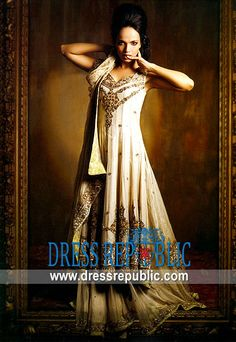 Ivory Alfred, Product code: DR4873, by www.dressrepublic.com - Keywords: Bridal Lehenga Retailers in United States, Major Lehenga Shops in USA, Main Retailers in USA
