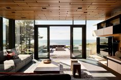 architecture projects Oregon coast living room