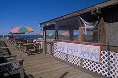 Dewey Destin Seafood Restaurant, on the banks of the East Pass, Destin, Florida.