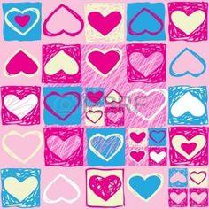motif coeur: Vecteur rose Valentine seamless avec des coeurs