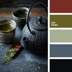 blue-black color, brown color, color matching in interior, dark grey color, dark olive color, green shades, light olive color, lime color