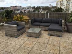 Salon de jardin 14 places en r sine tress e canap modulable tripoli http w - Mobilier jardin resine tressee ...