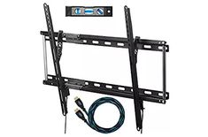 Cheetah Mounts TV Wall Mount Bracket for TVs up to VESA 600 and Fits And Wall Studs, and includes a Twisted Veins HDMI Cable and a Magnetic Bubble Level Tv Wall Brackets, Tv Wall Mount Bracket, Wall Mounted Tv, Best Tv Wall Mount, Tv Height, 70 Inch Tvs, Ceiling Tv, Curved Tvs