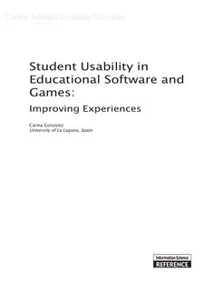 student-usability-in-educational-software-and-games-improving-experiences by Carina Gonzalez via Slideshare