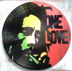 Marley One Love, spray painted vinyl record clock AU$22