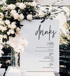 Simple Home Decoration Ideas Minimalist Gold Drinks Sign Printable Wedding Bar Sign Wedding Drink Menu, Wedding Signage, Wedding Favors, Wedding Bouquets, Wedding Day, Wedding Bar Signs, Diy Wedding, Wedding Tables, Formal Wedding