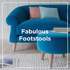 Feet up! Comfy underfoot and lovely on the eye, meet our footstools. Tub Chair, Media Marketing, Britain, Accent Chairs, Meet, Comfy, Social Media, How To Make, Home Decor