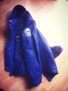 My NEW custom-made leather Capsule Corp jacket, as worn by Future Trunks #dragonball #trunks