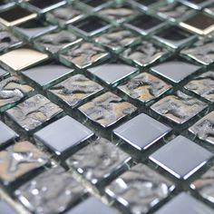 Contemporary Bathroom Wall Coverings kitchen backsplash tiles bathroom wall tiles, glass mosaics from FIFYH.  So shiny, so I WANT IT!!!!