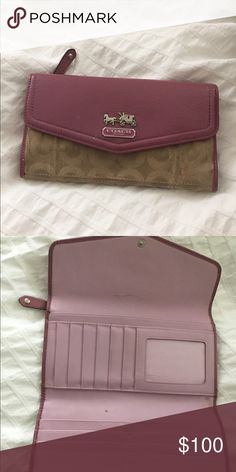 Coach wallet Slightly worn but great condition also selling matching check book case in my closet willing to make a bundle deal:) Coach Accessories