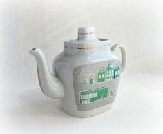 Porcelain Teapot Home Decor Soviet Vintage