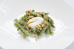Asparagus Salad, Poached Egg, Quinoa.