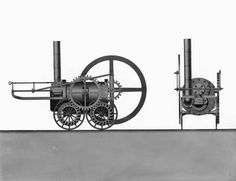 Trevithick loco drawing 1803, NRM York