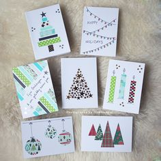 Diy Christmas Cards, Xmas Cards, Diy Cards, Christmas Gifts, Fingerprint Art, Toddler Crafts, Diy Projects To Try, Card Making, Crafty