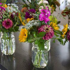 Cut Flower Garden, Flower Farm, Small Bouquet, Flower Bouquets, Cut Flowers, Fresh Flowers, Flower Arrangement, Floral Arrangements, Zinnia Bouquet