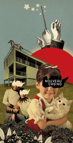 """Illustrations for the posters/flyers of """"Nouveau Casino"""" (a music venue in…"""