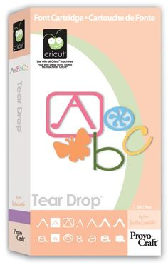 Cricut TEAR DROP Cartridge