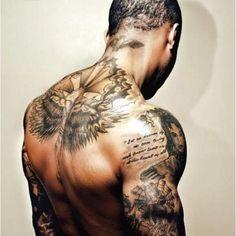 Men Back Tattoo - http://99tattooideas.com/men-back-tattoo/ #tattoo #tattoos #ink