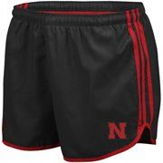 adidas Nebraska Cornhuskers Ladies Black Princess Running Shorts