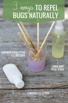 3 Ways to Repel Bugs NaturallyCombine 5 drops of lemongrass oil and 5 drops of clove essential oil with 1 cup of unscented body lotion. Mix together in a bowl and transfer to an empty bottle. Lemongrass makes you unappealing to ticks and mosquitoes and cloves can keep mosquitoes away for up to two full hours.