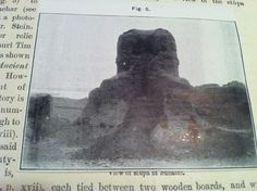Closeup view of the actual image of the Stupa from the ASI's official The Bower Manuscript