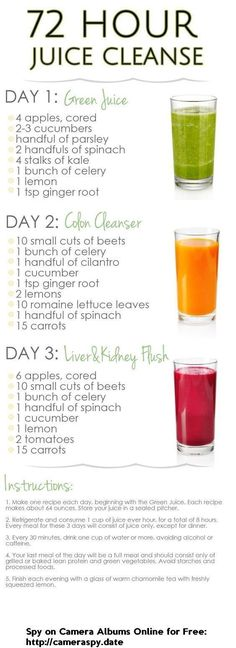 DIY 3 Day Juice Cleanse For Weight Loss #3DayDetox #detoxdiets3day