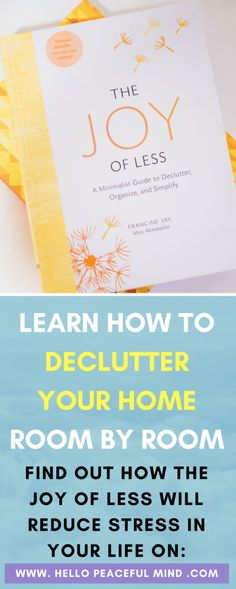 Discover how to declutter your home with the step by step guide! Plus get the free audiobook on www.HelloPeacefulMind.com #declutterhelp