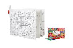 Libro de animalitos de tela de papel para pintar, lavar y volver a colorear