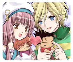 CLAMP ~~~ Cuddling plushies of their crushies ::: Fai / Kurogane and Kobato / Fujimoto