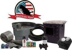 American Pro Pond Kit 11'x11' - 3000 GPH Stainless Direct Drive Pump - Pond Starter Kit - Build your Own Water Garden