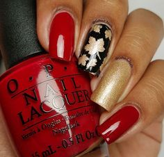 Omg! @Gifted_Nails makes the most amazing manis! Great Leaf mani for Fall!❤️ - Leaf #NailVinyls www.snailvinyls.com