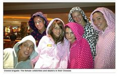 Dancing On Ice Onesie Brigade  Beth Tweddle, Samia Ghadie, Vicky Ogden, Robin Johnstone