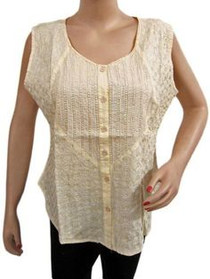Womens Sleeveless Ivory Blouse Sequin Floral Embroidered Tunic Top Medium Size Mogul Interior,http://www.amazon.com/dp/B00CN6CH82/ref=cm_sw_r_pi_dp_7wOHrbFC2A544E97