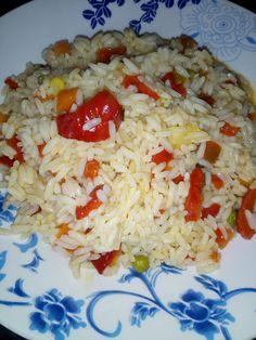 H μαγειρικη της Φωτεινής: ρύζι με λαχανικά Rice, Food, Essen, Meals, Yemek, Laughter, Jim Rice, Eten