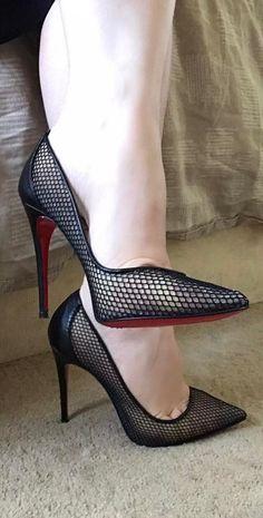 Legs, tights and heels #shoeshighheelsstilettos #stilettoheelsstockings