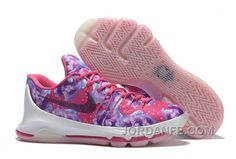 "65e67c63285 Nike Kevin Durant KD 8 ""Aunt Pearl"" Vivid Pink Black-Phantom 2016 For Sale  Top"