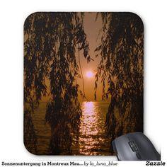Sonnenuntergang in Montreux Mauspad