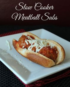 Slow Cooker Meatball Subs. 376 calories and 10 weight watchers points plus