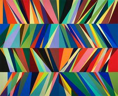 Odili Donald Odita - The Mother Ship, 2010, acrylic on canvas, 90 x 110 inches