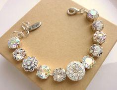 Swarovski crystal tennis bracelet clear crystal by SiggyJewelry, Sabika inspired $72.00