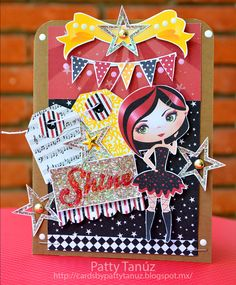 Cards by Patty Tanúz: Keep Calm & Rock on another year: HAPPY BIRTHDAY CARACOLITO!!!!!  con el kit She's Star de Nini Scrap