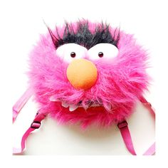 Animal from Muppet Babies Backpack! Plush and furry magenta hair and a toothy grin, hes ready to go rock out! Roomy compartment in his head, and