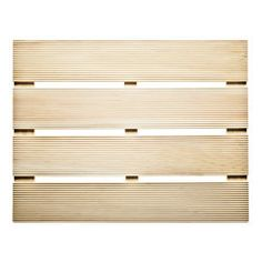Japanese Hinoki Cypress Wood Bath Mat, mildew resistant & antibacterial. $29.90 for small size from Kaufmann Mercantile.