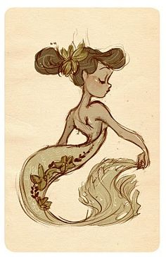 i love gabby's work.  this would be a great tat.  Gabby Zapata. Like the tail curvature