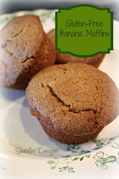 Can't wait to try these #glutenfree Banana Muffins from SpindleDesigns.com! #recipes