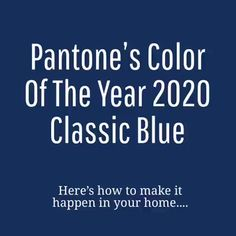 Pantone's Color of the Year, 2020 - Home Design And Decor in Classic Blue Click through for beautiful examples of Pantone's Color of the Year 2020 in Home Design and Decor - Beautiful Rooms in Classic Blue Pantone 2020, Blue Home Decor, Blue Design, Design Design, Home Decor Trends, Decor Ideas, Blue Accents, Color Of The Year, Pantone Color